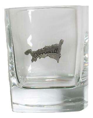 Cornwall Pair Of Crystal Tumblers Pewter Motift Presentation Box 440 • 34.99£