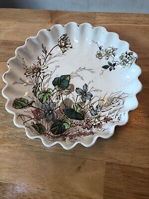 Antique Rare Dish S Hancock & Sons For William Whiteley London Flora Pattern • 1.99£