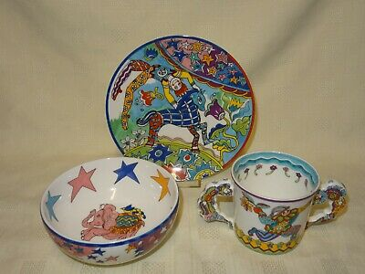 Tiffany & Co Fantasy Circus Plate Bowl Cup Children's Gift Set  • 79.99£