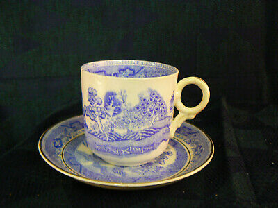 Pretty Antique Bone China Willow Pattern Tea Cups & Saucers 5 Available  • 4.99£