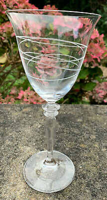 ROSENTHAL Etched Engraved Spirale? Spiral Overlap Red Wine Crystal Glass • 29.99£