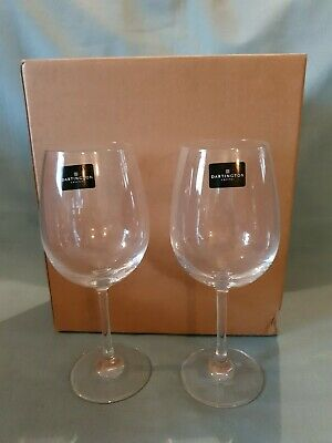 Dartington Crystal Set Of 2 Vineyard Red Wine Handmade Glasses BNIB • 13.99£