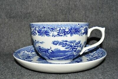 Spode Jumbo Cup And Saucer Aesops Fables • 44.99£