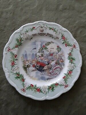 Royal Doulton Brambly Hedge Plate 8  The Snow Ball Excellent Condition!! • 20£