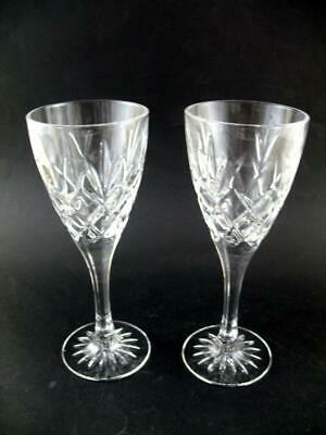 2 Royal Doulton Crystal Wine Glasses  Cicant / Canterbury  8  High Unused • 29.50£