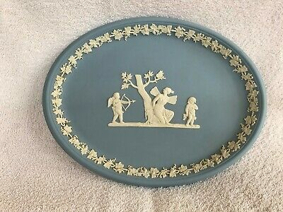 Wedgwood Blue Jasperware Oval Tray In Excellent Condition . • 17.99£