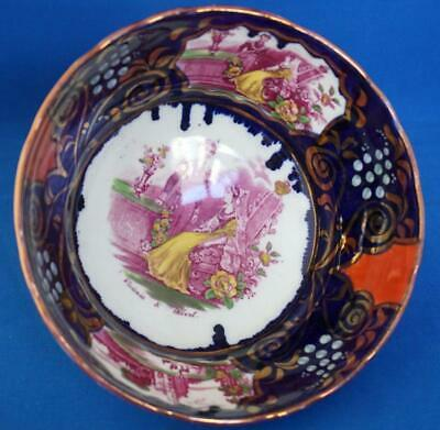 Queen Victoria Gaudy Welsh Pottery Fruit Bowl Great Exhibition Commemorative • 95£