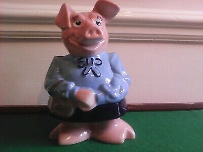 Lady Hillary Natwest Wade Pig Piggy Bank Original Stopper In Excellent Condition • 11.90£