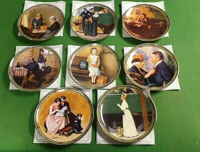 Set Of 8 Rockwell's American Dream Plates Knowles Certificates • 40£