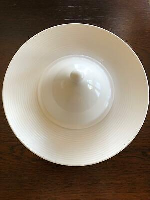 Villeroy & Boch Perimeter Wide Rimmed Soup Pasta Bowl In White With CLOCHE / LID • 14.95£