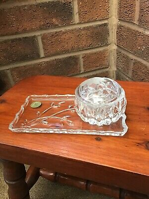 Lead Crystal Etched Trinket Box With Tray 24% Princess House Heritage Design  • 13.99£
