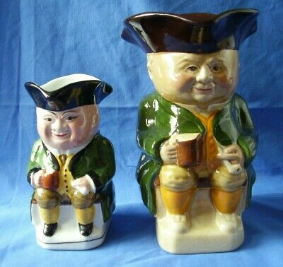Wood & Sons - 2 Character Toby Jugs- Numbers 2 & 3 - Handpainted -excellent Cond • 3.40£