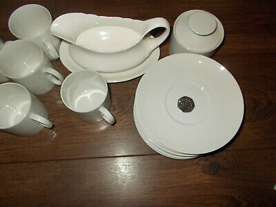 14 Peices Thomas Of Germany - White Porcelain Cups/plates/jugs/sugar Bowl • 10£