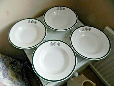 Four Tuscan China London Rifle Brigade Rimmed Soup Bowls • 4.99£