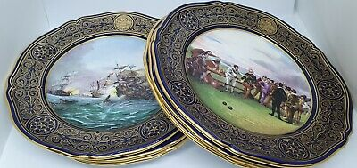 6 Spode Armada Series Collection Ltd Edition Plates Fireships Vanguard Bowls • 99£