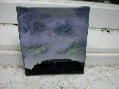 A Highland Stoneware Wall Plate - McCAIGS TOWER OBAN In SILHOUETTE - Signed  • 55£