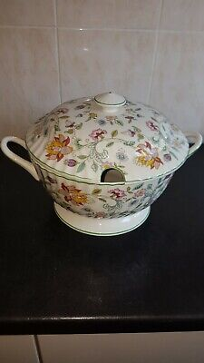 Minton Haddon Hall Large Soup Tureen With Lid 9 3/4  Across Very Good Condition  • 75£