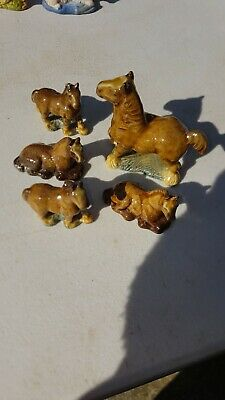 Wade Whimsies Horses X5 Good Condition  • 10£