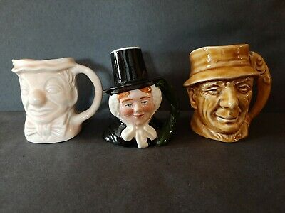Group Of 3 Miniature Character Jugs Including Lancaster Sandland/Weetman & Staff • 5£