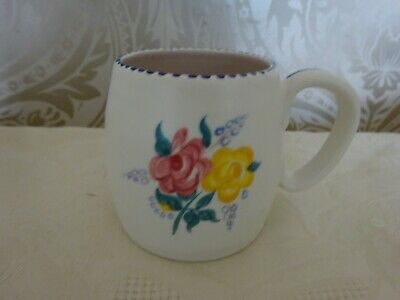 Vintage Retro Poole Pottery Hand Painted Signed Mug Cup 8cm Tall • 6.50£