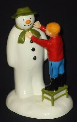 Coalport Characters THE SNOWMAN - ADDING A SMILE 1st Edition Figure • 14£