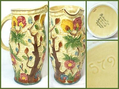 Vintage Indian Tree By H.J. Wood Hand Painted Water Pitcher Jug 579 EXCELLENT • 44.49£