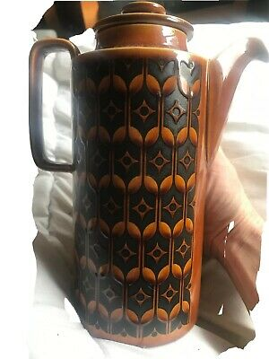Vintage Retro Hornsea Pottery Heirloom Coffee Pot Colour Autumn Brown • 5£