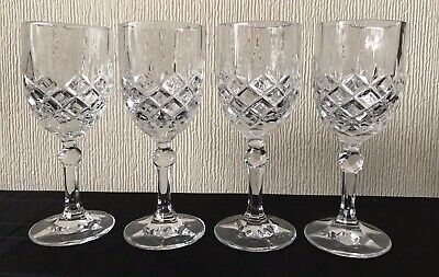 Antique Early Lead Crystal Cut Stemmed Wine Glasses • 10£