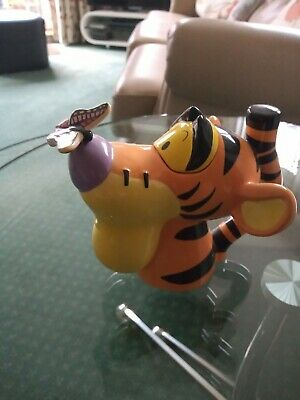 Novelty Tea Pot Tiggers Head By Cardew Designs Based On Disney With Butterfly • 14£