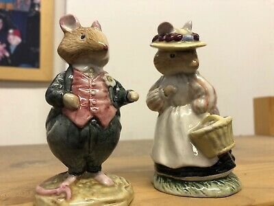 Royal Doulton Dusty Dogwood And Lady Woodmouse 1982 • 10.50£
