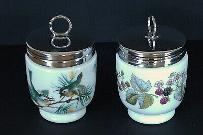 A Pair Of Royal Worcester Egg Coddlers - Birds & Brambles • 15£