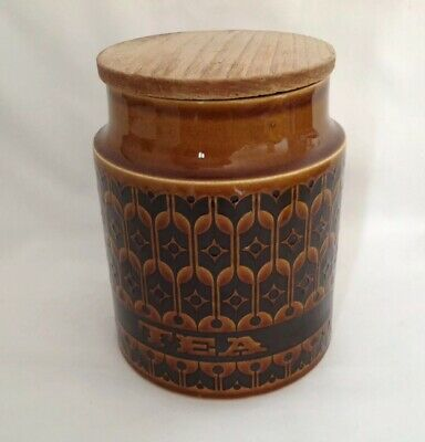 Vintage Hornsea Tea Caddy Decorated In 'Heirloom' Pattern • 1£