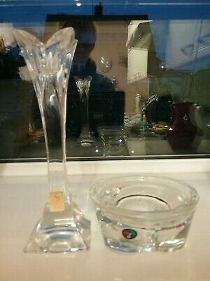 2 Nachtmann Glass Candle Stick Holders  • 8£