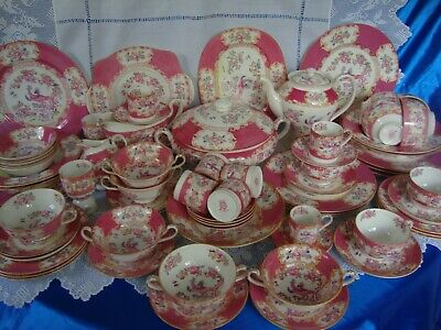 MINTON PINK COCKATRICE Dinner Service Individually Sold • 40£