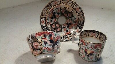 Royal Crown Derby Trio , Imari , Cup & Saucer , Coffee Can  • 2.20£