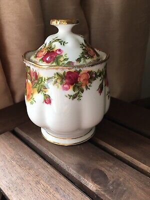 Royal Albert Old Country Roses Small Condiment Jar With Lid 11cm • 2.80£