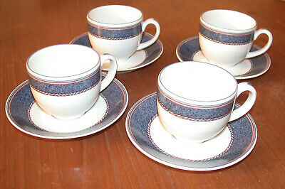 Royal Worcester Henley   4 Cups & Saucers • 12.50£