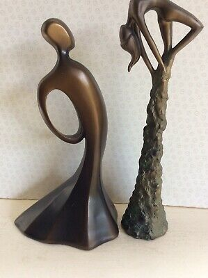 Two Collectable Art Deco/nuveau Bronzed Figurines • 4.99£