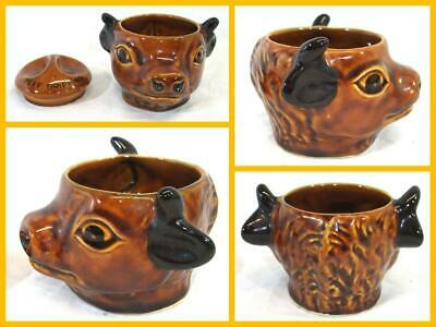 Studio Szeiler Beef Dripping Pot Bull / Cows Head Design Hand Painted Brown • 16.49£
