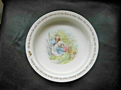 Wedgwood MRS TIGGY-WINKLE Baby Feeding Bowl PETER RABBIT Beatrix Potter Designs • 2.49£