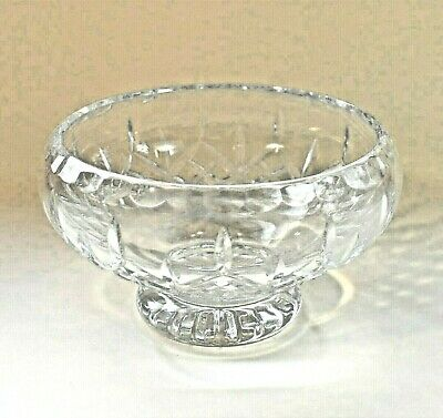 Footed Crystal Bowl - 9cm Tall / 14cm In Diameter • 12£
