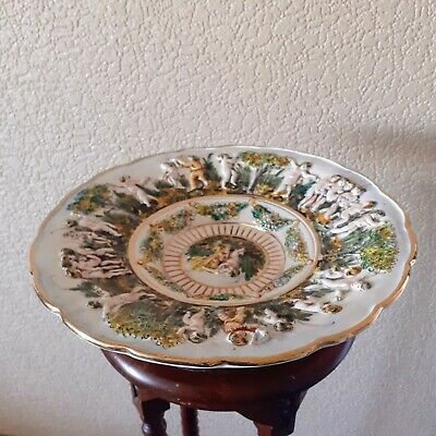 Large Italian Capodimonte Charger Plate • 45£