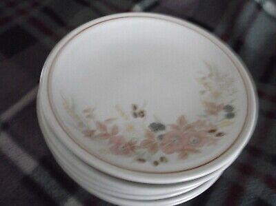 6 Hedge Rose Side Plates In Vgc. • 24.99£