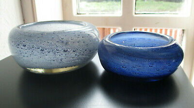 Two Attractive Stylish Nazeing Studio Glass Bowls, 1950s/1960s • 20£