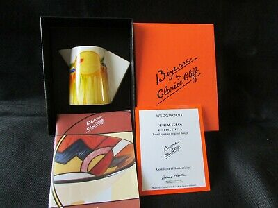 Clarice Cliff Jug Conical Cream Mint Condition Delecia Citrus Boxed + Coa Deco • 5.50£