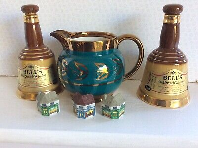 Six Collectable Wade Items (whisky Decanters-lustre Jug-houses ) • 3.99£