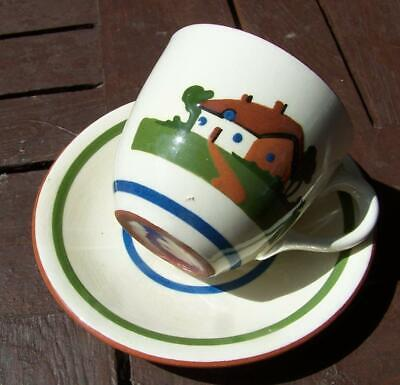 Dartmouth Pottery Cup & Saucer Motto Ware. • 6£