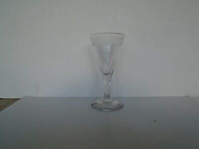 Antique  Georgian Cut And Engraved Small Wine Or Gin Glass • 3.99£