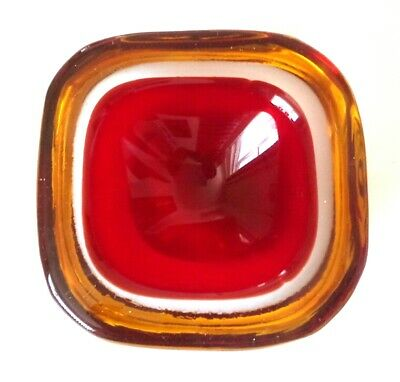 Cenedese, Vintage Murano Sommerso Glass Bowl • 24.99£