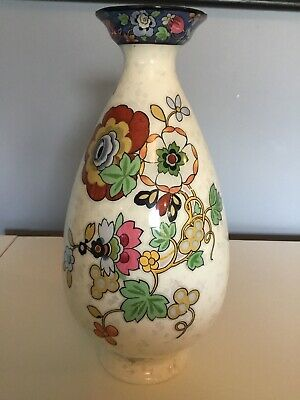 Crown Ducal Ware Urn Vase Oriental Floral Great Condition • 8.99£
